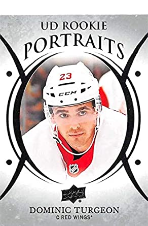 f320eed9be8 Image Unavailable. Image not available for. Color  2018-19 Upper Deck  Portraits  P-68 Dominic Turgeon Detroit Red Wings NHL