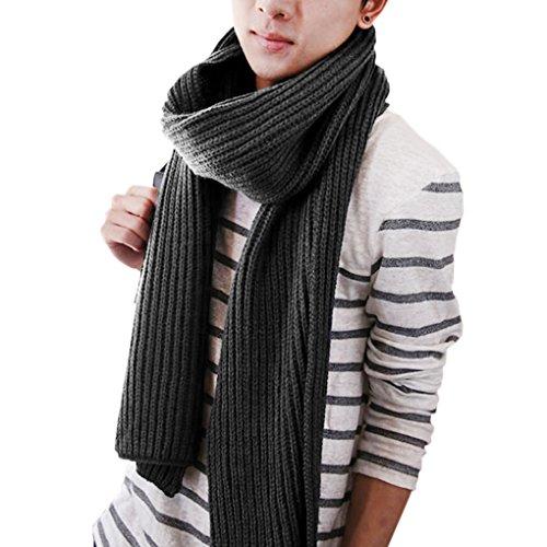 women-mens-winter-thick-knitting-wool-long-benetton-scarf-neck-warmer-wrap-shawlgray