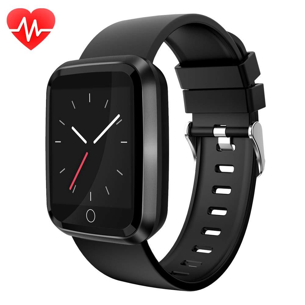 moreFit Fitness Tracker Watch, Bluetooth Smart Watch Waterproof IP68 with Heart Rate Monitor, Wearable Smart Bracelet Sleep Monitor Step Counter Pedometer Watch for Men Women Kids by moreFit