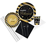 Officially Retired Retirement Party Supplies - Party Pack for 32
