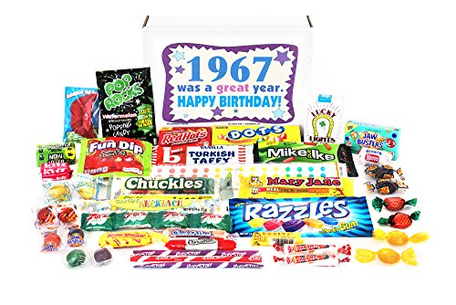 Woodstock Candy 1967 51st Birthday Gift Box of Retro Candy From Childhood Jr (Beer Gift Basket Delivery)