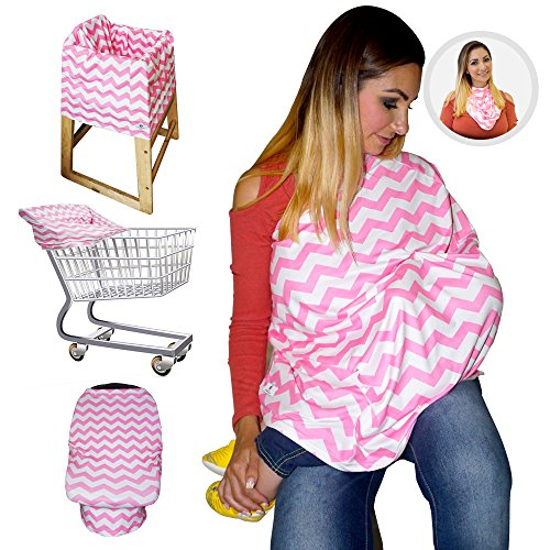 Pink Shopping Cart Cover - 8