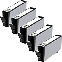 5 Inkfirst® Black Ink Cartridges (HP 564XL BK) Compatible Remanufactured for HP 564 564XL Black (High Capacity) 2 Ink First Black Ink Cartridges NEW VERSION CN684WN (HP 564XL BK) Compatible Remanufactured for HP 564 564XL Black (High Capacity)OfficeJet 4620 6512 6515 Photosmart Premium Fax e-All-in-One Printer C410a C310a eStation C510a C309n NEW VERSION CN684WN