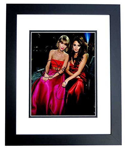 Taylor Swift and Selena Gomez Signed - Autographed Singer - Songwriter 11x14 inch Photo BLACK CUSTOM FRAME - Guaranteed to pass PSA or JSA Gomez Autographed Photo