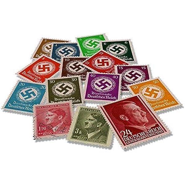IMPACTO COLECCIONABLES Segunda Guerra Mundial - 15 Sellos de la Alemania Nazi, Hitler y la Esvástica: Amazon.es: Juguetes y juegos