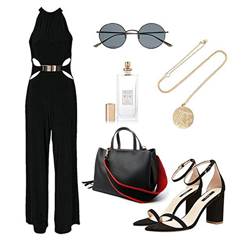 Sacchetto di cintura Yoome per le donne Borsa superiore manico Borse eleganti in cuoio Vegan per ragazze Casual Borse - Nero
