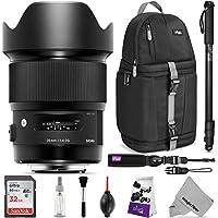 Sigma 20mm F1.4 ART DG HSM Lens for CANON EF DSLR Cameras w/ Advanced Photo and Travel Bundle