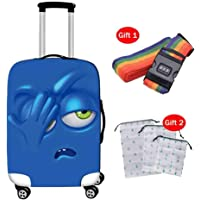 Suitcase Cover Cute Cartoon Printed Suitcase Protector Travel Suitcase Thick Wear-Resistant Trolley Case Protective Cover
