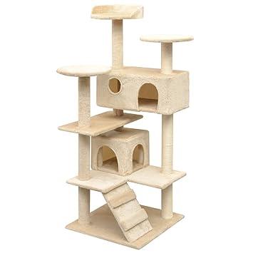Festnight Rascador para Gatos Escalador para Gatos Beige: Amazon.es: Electrónica