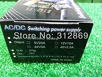 Color: 5Pieces per lot Fincos Seven Neon Free DHL Express Shipping Wholesale Mini Size 100-240V Input AC//DC 12V 10A Switching Power Supply -