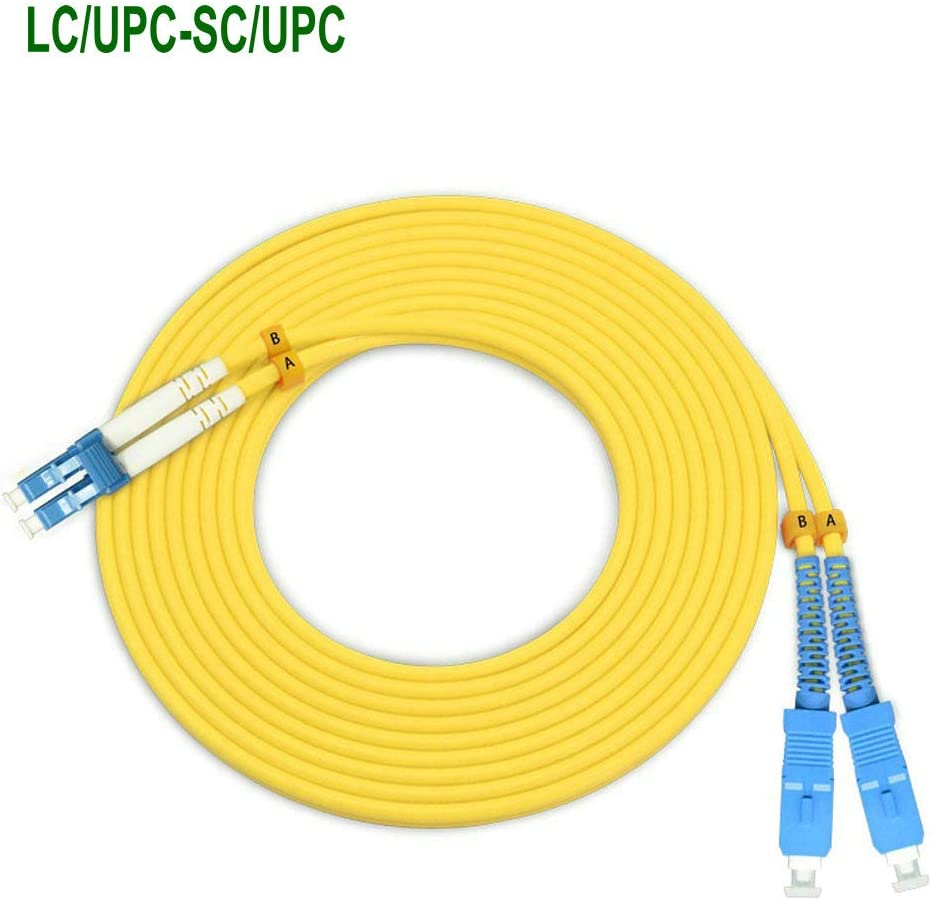 EB-LINK 10M SC to FC Fiber Optic Patch Cord Jumper Cable Duplex Single-Mode 9//125 OS1 OS2 SC-FC,10 Meters 32ft Yellow