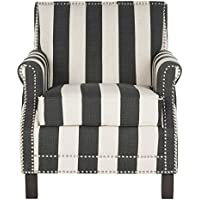 Safavieh Mercer Collection Easton Club Chair, Black/White