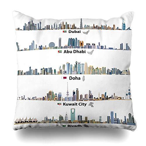 NOWCustom Throw Pillow Cover Center Skyline Abstract for sale  Delivered anywhere in USA