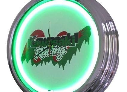 Neón reloj Kawasaki Racing reloj de pared decorativo-reloj Leuchtuhr Estados Unidos 1524 cm s