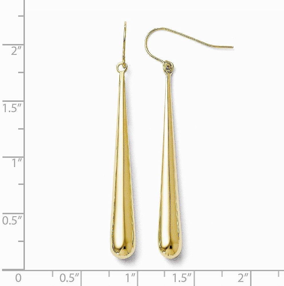 14k Yellow Gold Shepherd Hook Earrings