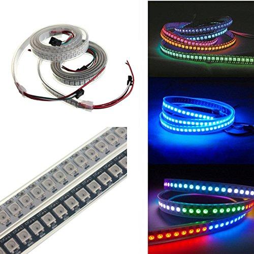 JCHUNL 1 Mt 43,2 Watt WS2812B 5050 RGB Wasserdichte IP67 LED Streifen Lichtfarbe Ändern Individuelle Adressierbare DC5V New Hot (Farbe   Shell Farbe Weiß PCB)