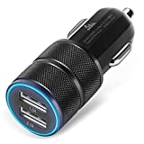 Car Charger, ShuoGe® 2.1A/24W 2-Port , Rapid Titanium Smart Fast Charge Car Charger Auto Adapter for iPhone 6 6S Plus 6 5S 5 4, iPad, Ipod, Samsung Galaxy, Smart Phone, Tablets