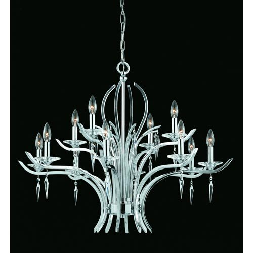 12 Light Allure Chandelier, Chrome
