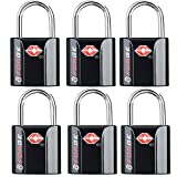 Black 6 Pack TSA Approved Luggage Locks