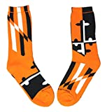 Route One Apparel Men's Baltimore Maryland Flag/Crew Socks