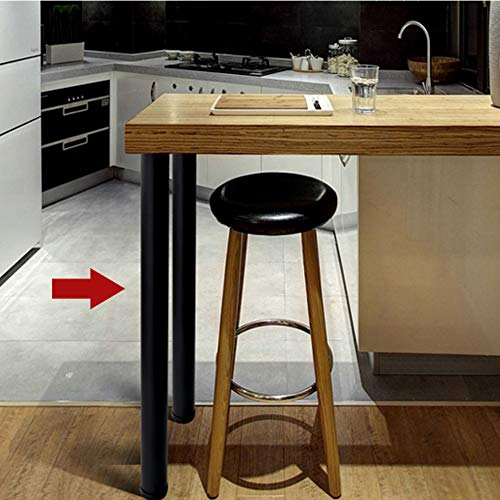 """QLLY 28 Inches Height Tall Metal Desk Legs, Adjustable(+1"""") Office Table Furniture Leg Set, Set of 4 (Black) by QLLY (Image #6)"""