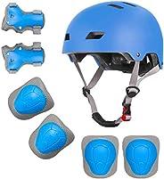 Kids Bike Helmet Knee Elbow Wrist Pads 3-8 Years Toddler to Youth for Bike Skateboarding Roller Blading Scoote