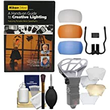 Nikon School - A Hands-on Guide to Creative Lighting DVD & Diffuser Filter Set + Bouncer Kit for SB-700 & SB-910 AF Speedlight Flashes