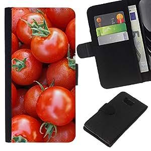 All Phone Most Case / Oferta Especial Cáscara Funda de cuero Monedero Cubierta de proteccion Caso / Wallet Case for Samsung ALPHA G850 // Fruit Macro Cherry Tomatoes