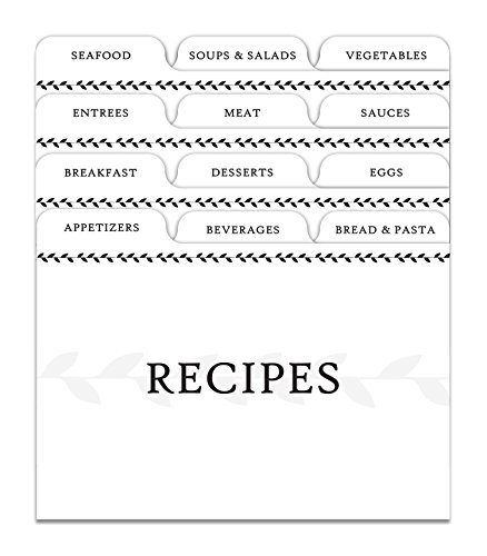 Jot & Mark Recipe Card Dividers | 24 Tabs per Set, Works With 4x6 Inch Cards, Helps Organize Recipe Box (Classic) by Jot & Mark (Image #3)