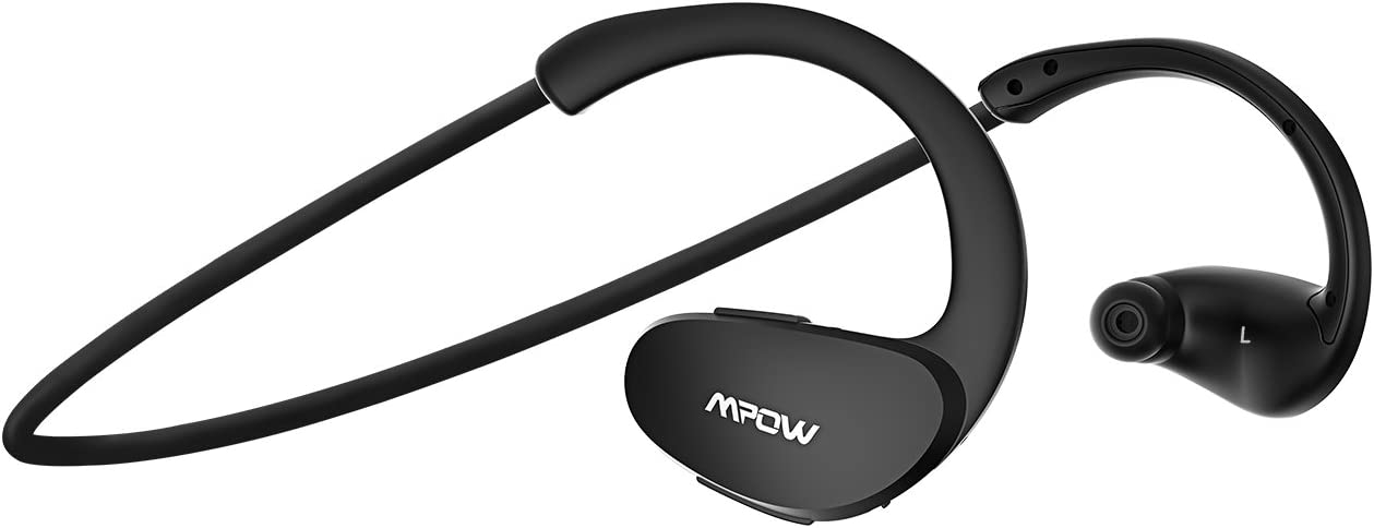 Mpow Cheetah Bluetooth Headphones, Sport Wireless Earbuds w/Aptx Sound, IPX5 Waterproof&8 Hrs Playtime, V4.1 Wireless Sport Headphones, Behind-Ear Running Headset w/CVC6.0 Noise Cancelling Mic,Black