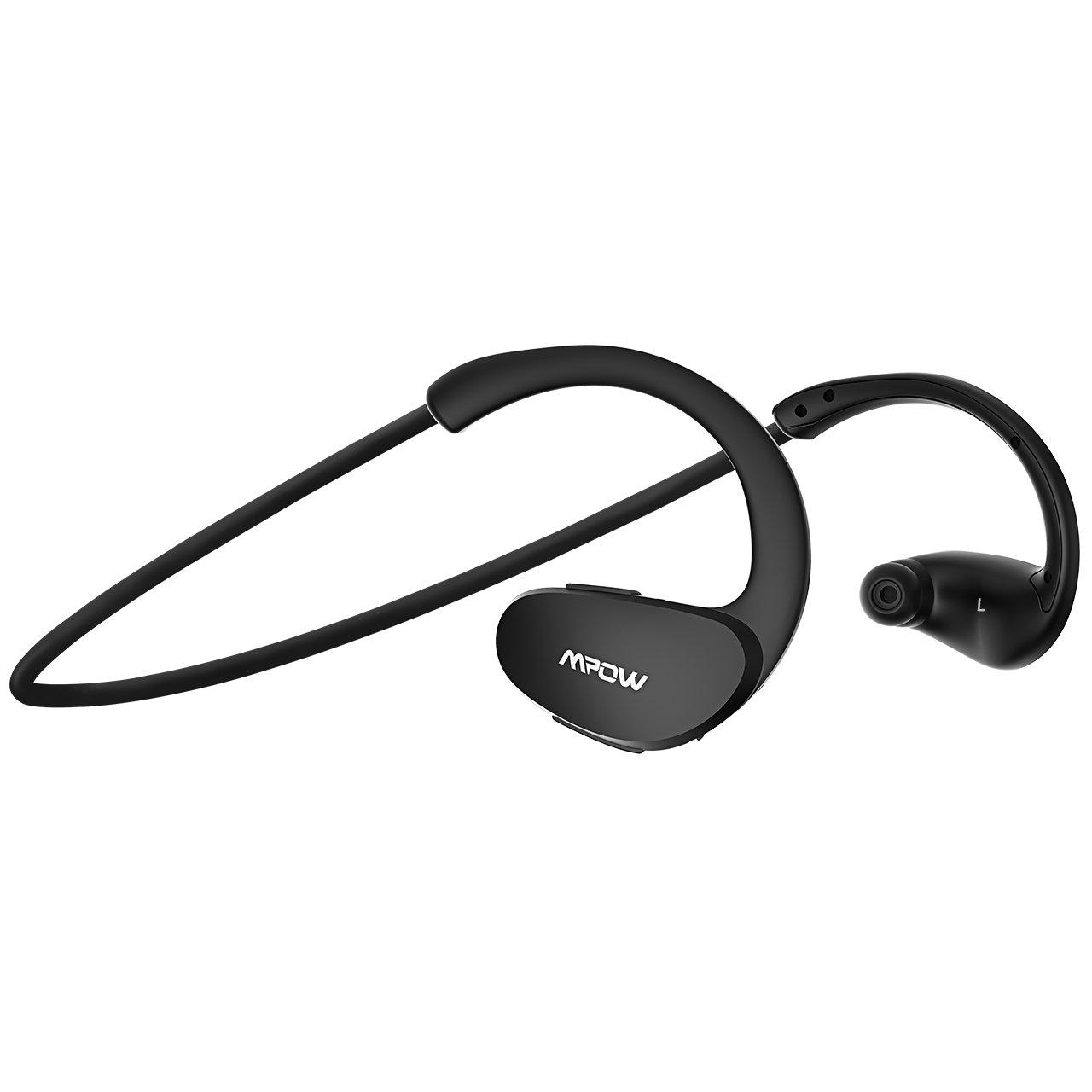 Mpow Cheetah Bluetooth Headphones, Sport Wireless Earbuds w/Aptx Sound, IPX5 Waterproof&8 Hrs Playtime, V4.1 Wireless Sport Headphones, Behind-Ear Running Headset w/CVC6.0 Noise Cancelling Mic,Black by Mpow