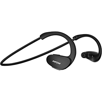 Mpow Cheetah Bluetooth Headphones, V4.1 Wireless Sport Headphones, Behind-Ear Sweatproof Running Headset with Built-in Mic for Workout Exercise (IPX5 Splash ...