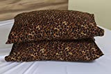 Leopard Print Premium 600 Thread Count Ultra-Soft Egyptian Cotton Quality 2pc Set of Pillow Cases, Silky Soft & Wrinkle Free (ALL COLORS/SIZES)-Queen Size BY- ARlinen
