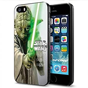 Yoda Jedi Master Green Light Saber Apple Smartphone iPhone 4s 4s Case Cover Collector Black Hard Cases