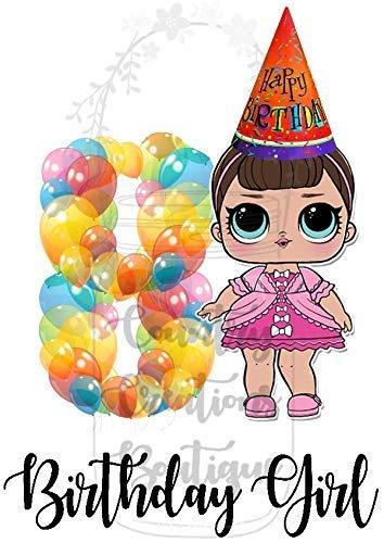 Amazon LOL Doll Birthday Shirt Any Age 1 2 3 4 5 6 7 8 9