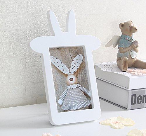 Bunny Ear Photo Frame 4'x6', Rabbit Ear Shape Cute Photo Frame, Decoration Baby ()