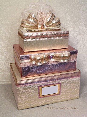amazon com blush rose gold wedding card box with slot sweet 16