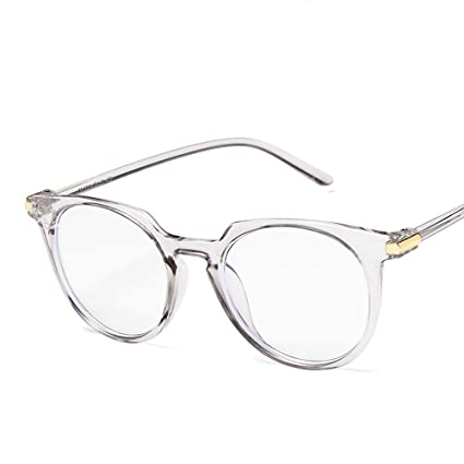 03369d52d1 Gafas transparentes Color de jalea, Retro Unisex Marco de metal redondo  Lentes transparentes Anteojos Vintage