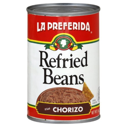 La Preferida Refried Beans Chorizo, 16-Ounce (Pack of (La Preferida Refried Beans)