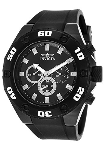 Men's 'Specialty' Swiss Quartz Stainless Steel and Silicone Casual Watch, Color Black (Model: ) - Invicta 21459