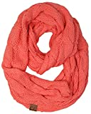 Funky Junque's C.C Beanies Matching Ribbed Winter Warm Cable Knit Infinity Scarf
