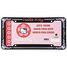 Plastic Glitter Automotive License Plate Frame - Sanrio Love Hello Kitty Hearts