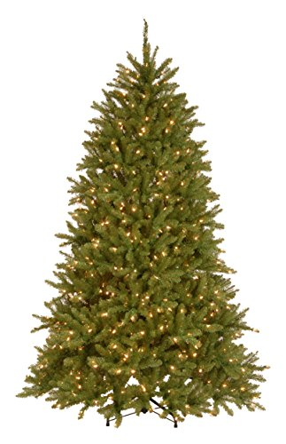 National Tree 7.5 Foot Dunhill Fir Tree with 750 Dual Color LED Lights with 9 Functions (DUH3-300D-75) (Metal Snowflakes White)