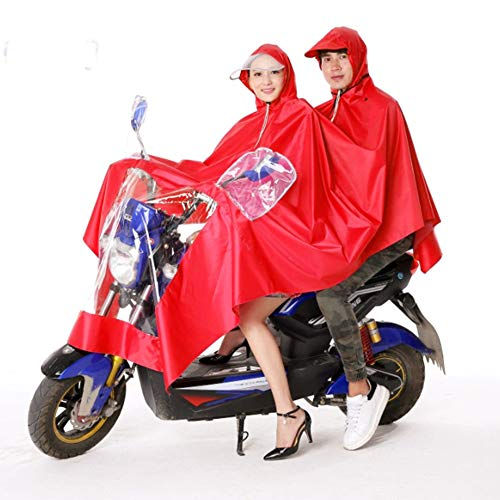 LIBWX Electric Bike Raincoat,Motorcycle Poncho Waterproof Mobility Scooter Rainwear Rain Cape Jackt Cover Hoodie Coat with Reflective Strips,Universal Weatherproof Rain Gear for Men Women,A4