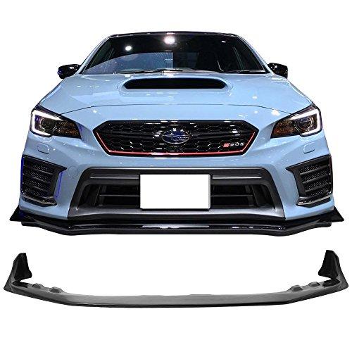 Front Bumper Lip Fits 2015-2017 Subaru WRX STI | S208 Style Black PU Front Lip Finisher Under Chin Spoiler Add On by IKON MOTORSPORTS | 2016