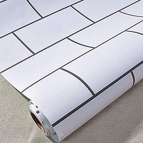 ケイ・ララ 壁紙 レンガ 剥がせる 白 壁紙シール [サブウェイタイル調ホワイトレンガ] 幅60cm×10cm単位 ストーン ウォールステッカー リメイクシート y3