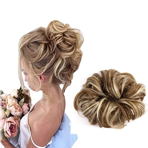 Focussexy Scrunchie Bun Up Do Hair piece Hair Ribbon Ponytail Extensions Wavy Curly or Messy 14 Difference Colors