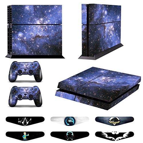 Skins for PS4 Controller - Decals for Playstation 4 Games - Stickers Cover for PS4 Console Sony Playstation Four Accessories PS4 Faceplate with Dualshock 4 Two Controllers Skin -Purple from GameXcel