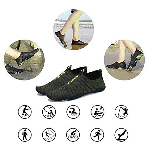 Dry WYSBAOSHU Aqua Green Water Men Barefoot Walking Shoes Pool Sports Women Yoga Socks 4 Athletic Quick Beach Shoes for yzqzcWr4Y