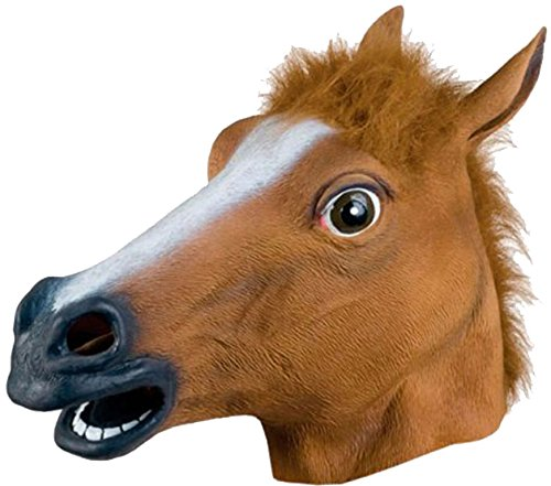 Animal Head Mask - Horse Mask , Novelty Mask - Latex Halloween Mask by Funny Party Hats